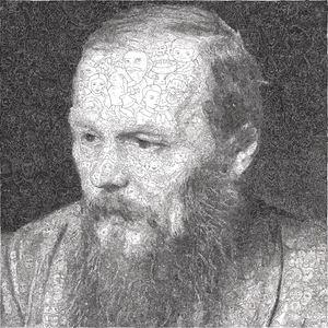 Hystorical Portraits – vol. 8  Fyodor Dostoevsky by Keita Sagaki contemporary artwork