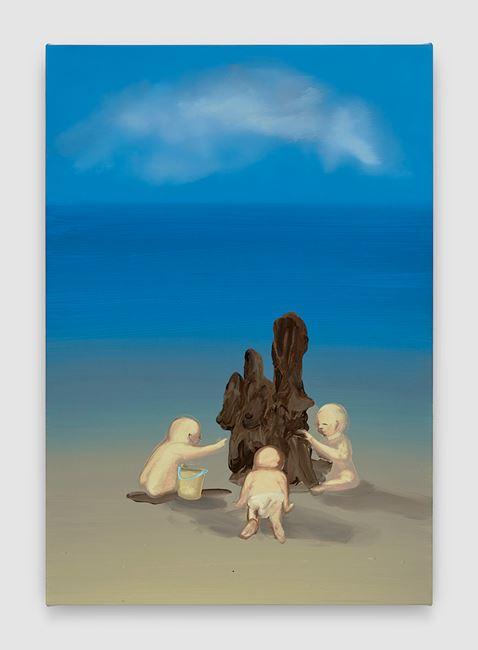 Shit Mom (Sandcastles) by Tala Madani contemporary artwork
