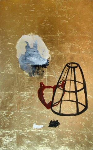 Sol de Silex by Amina Benbouchta contemporary artwork painting, works on paper