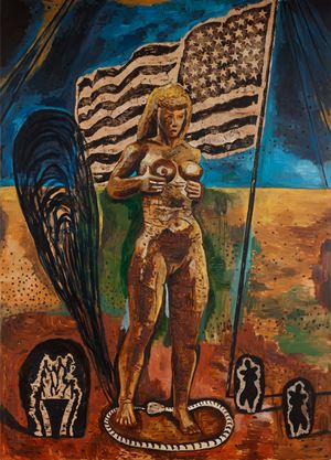 Great American Nude 3 by Damien Deroubaix contemporary artwork