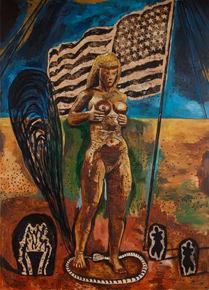 Great American Nude 3 by Damien Deroubaix contemporary artwork painting