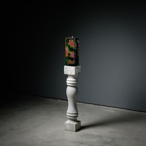 Marble Candle Holder by Su Meng-Hung contemporary artwork painting, sculpture