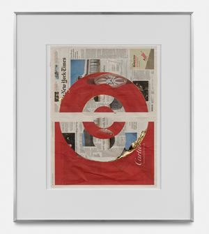 Blind Collage (Three 180° Rotations, The New York Times International Edition, Thursday, September 5, 2019) by Walead Beshty contemporary artwork