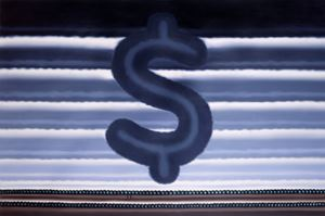 Landscape with Dollar Sign by Roger Brown contemporary artwork