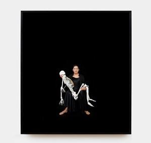 Holding the Skeleton, 2008 by Marina Abramović contemporary artwork