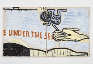 Under the Sea by Rose Wylie contemporary artwork