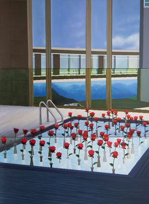 Home Sweet Home: Rose Pool by Mak Ying Tung 2 contemporary artwork