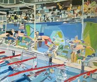 Olympic 300 Relay #1 by Clintel Steed contemporary artwork painting