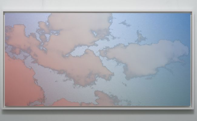 Unkai (Sea of clouds) Bolinas March 7 2021 7:05 PM by Miya Ando contemporary artwork
