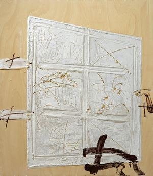Porta blanca by Antoni Tàpies contemporary artwork