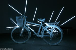 Electricity Controls Shanghai by Shi Qing contemporary artwork installation