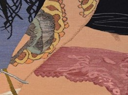 The artist weaving complex, beautiful tapestries about sex and trauma