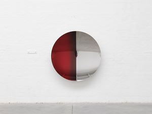 Split (Laser Red 2nd mix, Apple and Cobalt) by Anish Kapoor contemporary artwork