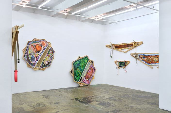 Exhibition view: Mike Cloud, Tears in abstraction, Thomas Erben Gallery, New York (12 September–9 November 2019). Courtesy Thomas Erben Gallery.