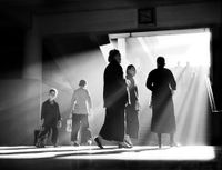 'Afternoon Chat', Hong Kong by Fan Ho contemporary artwork photography, print