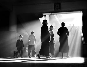 'Afternoon Chat', Hong Kong by Fan Ho contemporary artwork