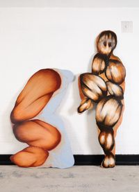 Sitting, and Lifting Leg by Radhika Khimji contemporary artwork painting, works on paper, sculpture
