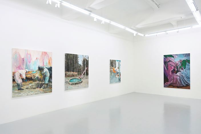 Exhibition view: Zico Albaiquni, Lec Cruz, Julius Redillas, Wedhar Riyadi and Geremy Samala, Lines of Dissonance, Yavuz Gallery, Singapore (27 February–17 March 2021). Courtesy Yavuz Gallery.