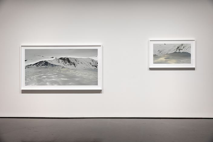 Exhibition view: Rosemary Laing, skyground, Tolarno Galleries (13 July–17 August 2019). Courtesy Tolarno Galleries, Melbourne.