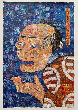 Appearance is a scary, but a funny man by Keita Sagaki contemporary artwork