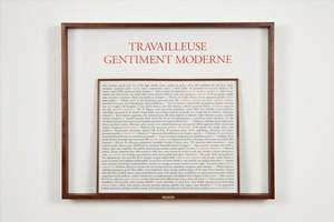 Travailleuse gentiment moderne by Sophie Calle contemporary artwork