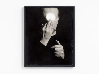 Anna & Bernhard Blume,Demonstrative Identifikation mit dem ALL = Magischer Subjektivismus (Demonstrative Identification with the Universe = Magical Subjectivism)(1971). Gelatin silver print, UV coated. 60.2 cm x 49.7 cm. Courtesy Buchmann Galerie.