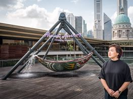 Cao Fei Creates Swinging Space Raft for National Gallery Singapore Rooftop