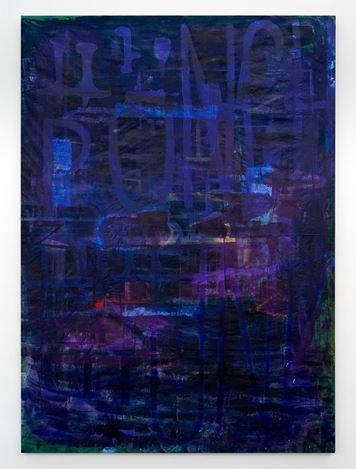 Paul Williams,Sleep and dreams (2019). Acrylic, gesso and glitter on polycotton. 254 × 183 cm. Courtesy Gallery 9, Sydney.