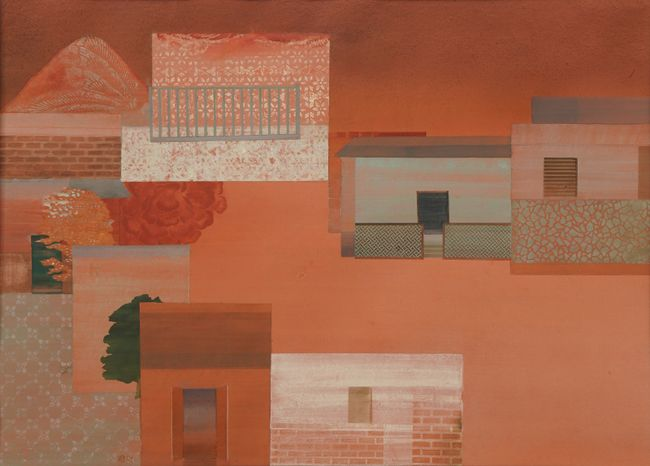 Blood on the road (5) by Nilima Sheikh contemporary artwork