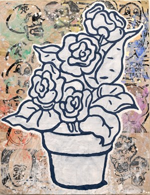 Flower Pot by Donald Baechler contemporary artwork