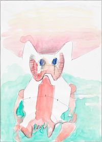 Ohne Titel by Maria Lassnig contemporary artwork painting, works on paper, drawing