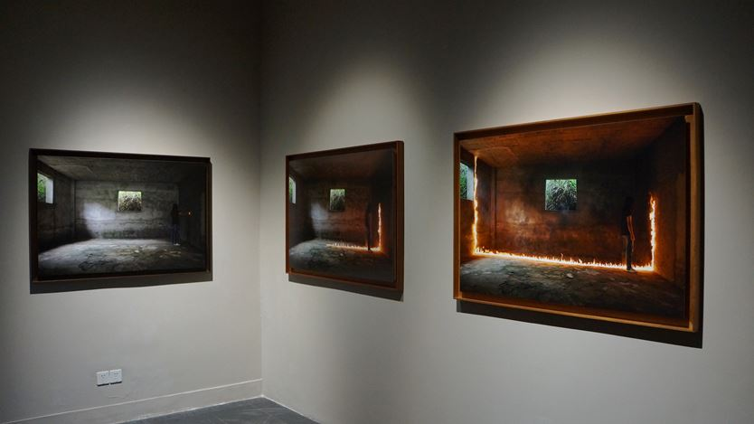 Exhibition view: Group exhibition,BUFFERING,Rén Space, Shanghai (15 August–30 September 2020). Courtesy Rén Space.