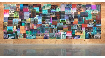 Contemporary art exhibition, Gary Simmons, Fight Night at Metro Pictures, New York