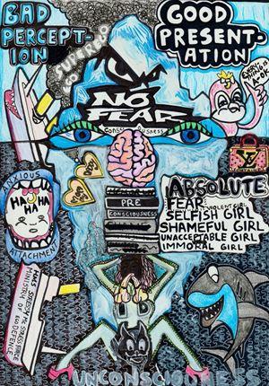 Bad Perception Good Presentation (Psychodynamic Therapy) by Liv Fontaine contemporary artwork