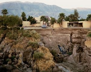 After a Flash Flood, Rancho Mirage, California, 1979 by Joel Sternfeld contemporary artwork