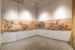 A march against the lie (IB) by Prabhakar Pachpute contemporary artwork