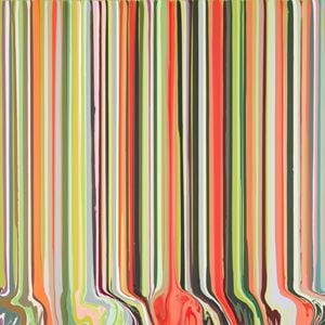 Poppy No.2 by Ian Davenport contemporary artwork