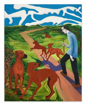 Where I Was, It Shall Be by Nicole Eisenman contemporary artwork painting