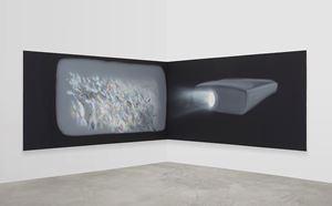 Corner Projection (Panic) by Tala Madani contemporary artwork