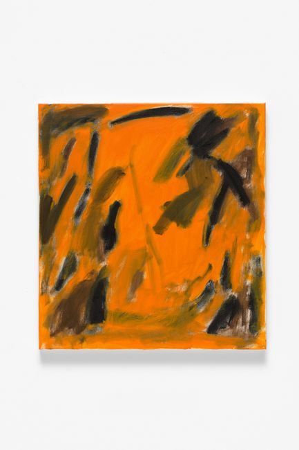 Black and brown gestures with orange reverb by Eleanor Louise Butt contemporary artwork