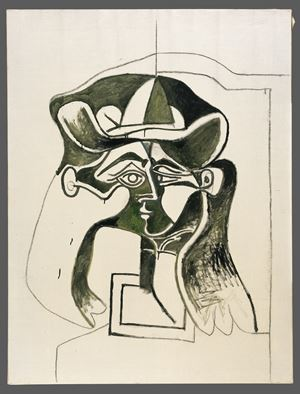Femme au chapeau. Buste [Woman wearing a Hat. Bust] by Pablo Picasso contemporary artwork