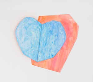 Light heart (blue) by Wonwoo Lee contemporary artwork