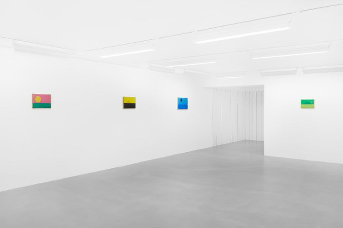 Exhibition view: Ugo Rondinone, a sky . a sea . distant mountains . horses . spring ., Sadie Coles HQ, Davies Street, London (12 April–22 May 2021). Courtesy Sadie Coles HQ.