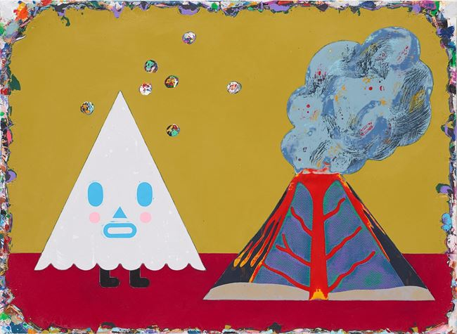 The Umbrella Man Pretends to be a Volcano by Lai Chiu-Chen contemporary artwork