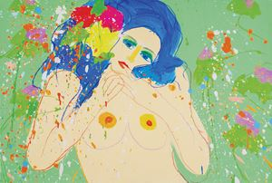 Love Me, Love Me 10041 by Walasse Ting contemporary artwork