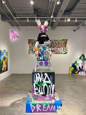 疯了的兔子 Mad Bunny by CHEN Yihan contemporary artwork