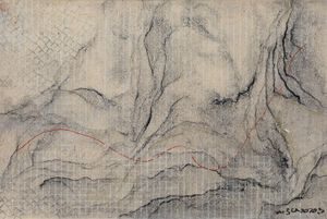 Path Climbs the Cloud River 10 by Wang Shaoqiang contemporary artwork