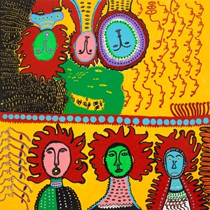 GARDEN OF WOMEN IN BLOOMING YOUTH by Yayoi Kusama contemporary artwork