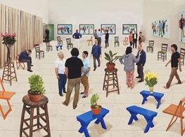 Solo show by British artist David Hockney challenges perspectives