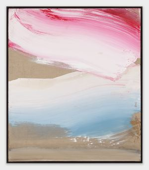 Blue & Red by Ed Clark contemporary artwork